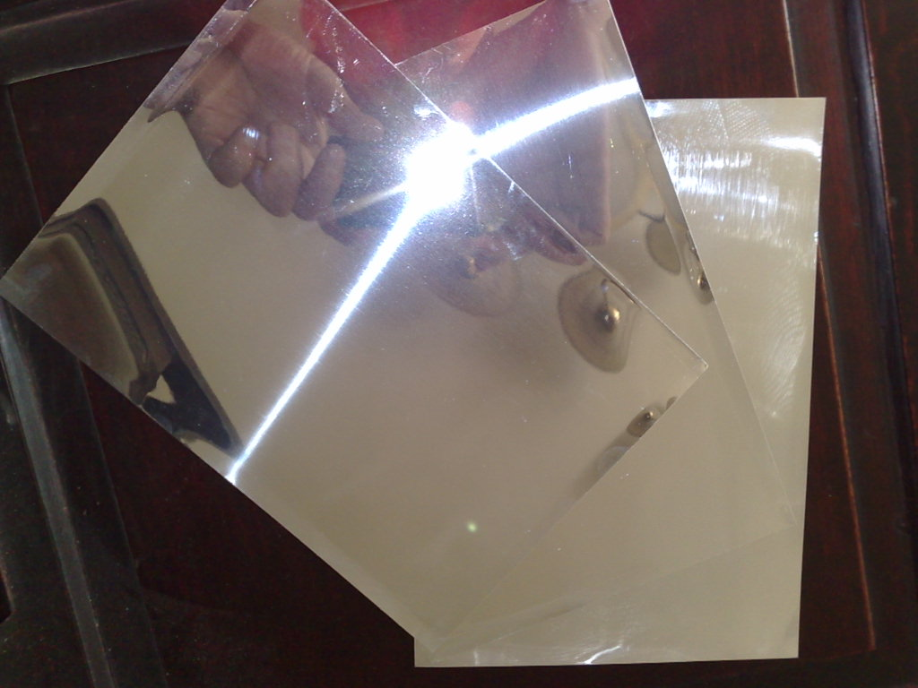 Aluminum sheet mirror